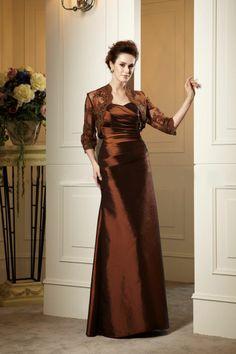 US$152.59 Gorgeous Ruched A-Line Sweetheart Neckline Floor-Length Mother of the Bride Dress. #Bride #Floor-Length #the #Dress