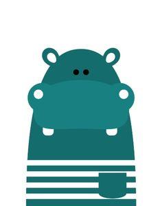 Hippopotamus Art Print by Limitation Free