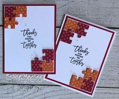 Love You To Pieces Challenge - Loving Life's Little Blessings Puzzle Piece Crafts, Puzzle Pieces, Puzzle Art, Homemade Cards, Homemade Toys, Graffiti Lettering Fonts, Love You To Pieces, Valentine Day Cards, Valentines