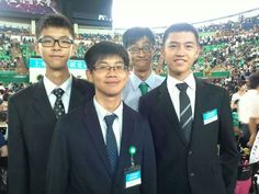Taiwan: happy young brothers at convention, love the one in the back with the green tie and the big eyes....:-)