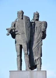Monument of the Piast Dynasty, Mieszko I and Boleslaw the Brave.
