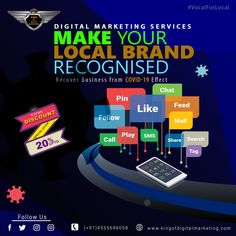 Make Your Local Brand Recognized with #DigitalMarketing Services. Get fast recovery of business growth🚀 post pandemic. Avail 20% discount on all #digitalmarketingpackages.  ✅Lead Generation ✅Social Media Marketing ✅Google Ads ✅Search Engine Optimization Enquire Now: www.kingofdigitalmarketing.com 📲 +919821918208  #DigitalMarketingServices #DigitalMarketingCompanyinDelhi #DigitalMarketingService #digitalmarketer #socialmediamarketing #digitalmarketingagency #digitalmarketingagencyindelhi Digital Marketing Services, Seo Services, Social Media Marketing, Google Ads, Lead Generation, Search Engine Optimization, Growing Your Business, Recovery, Text Posts