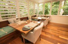 The corner tables at Arajilla Restaurant