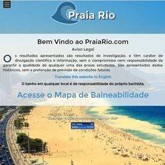 É com grande alegria que anunciamos que o site PraiaRio.com já está no ar. Nele você encontrará a balneabilidade de 60 praias no litoral do Rio de Janeiro! Confira qual praia está própria ou imprópria para o seu lazer! Link clicável no perfil do Instagram!