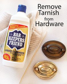 Remove tarnish from vintage hardware with this easy DIY.