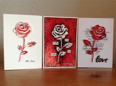 """""""Rose #2"""" Sizzlits Sizzix """"Off the grid"""" Stampin' up Clearly Besotted Flamingo Art Action"""