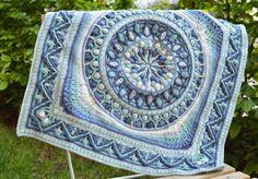 Large crochet square with mandala