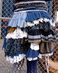 scrap fabric ruffle skirt.