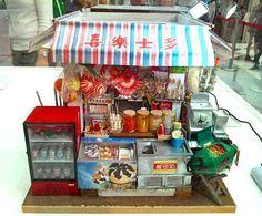Diy Dollhouse, Dollhouse Miniatures, Asian House, Hong Kong Art, Paper Clay, Dieselpunk, Bjd Dolls, Miniature Dolls, Asian Art
