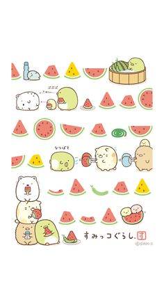 すみっコぐらし | 壁紙&スタンプコーナー[スゴ得] Kawaii Wallpaper, Pastel Wallpaper, Iphone Wallpaper, Kawaii Doodles, Cute Doodles, Kawaii Drawings, Cute Drawings, Cute Summer Backgrounds, Sanrio