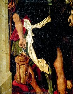 Detail from Christ in front of Caiphas from the Altarpiece of the Birth of Christ, Bardejov, c. 1490-1500