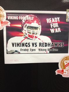 Nov. 8, 2013 - Big game tonight against Naperville Central. On the road to State! Go Vikings!
