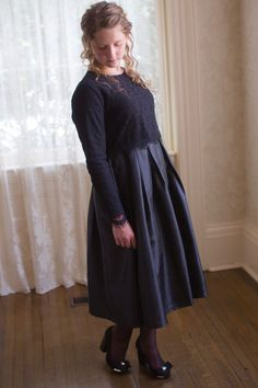 Modest Fashion Modest Bridesmaid Dresses Black Taffeta and Lace Perfect Harmony Dress Modest Dresses For Women, Modest Maxi Dress, Modest Bridesmaid Dresses, Modest Skirts, Modest Outfits, Modest Fashion, Lace Dress, Modest Apparel, Modest Clothing