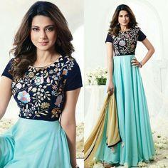 Jeniffer Diva Fashion, Female Fashion, Womens Fashion, Fashion Trends, Pakistani Outfits, Indian Outfits, Jennifer Winget Beyhadh, Designer Anarkali Dresses, Korean Street Fashion