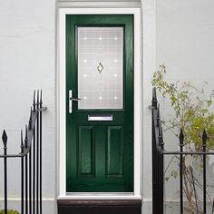 This external virtuoso crafton rossini prehung composite door, shown in green, is a top quality and affordable option for your front door. #newdoor #compositedoor #securefrontdoor