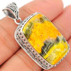 Indonesian Bumble Bee 925 Sterling Silver Pendant Jewelry ECPP616