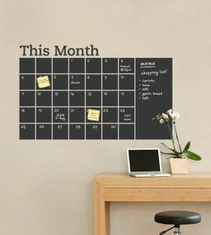 Chalk board calender wall decal - I would put this in my kitchen, somewhere?