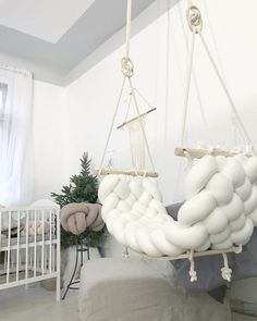 Swings for gorgeous interior decor image 1 What is Decoration? Decoration could be the art of decorating the interior and … Room Design Bedroom, Room Ideas Bedroom, Bedroom Decor, Bedroom Swing, Bedroom Chair, Cute Room Decor, Aesthetic Room Decor, Cozy Room, Swinging Chair