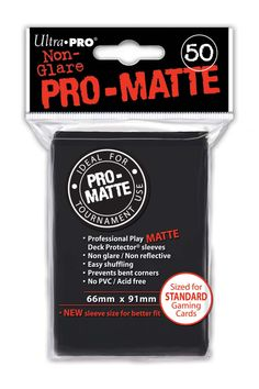 120 Ultra Pro Deck Protector Card Sleeves Pro Matte Black Small Yugioh Vanguard