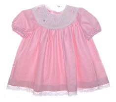 NEW Polly Flinders Pink Toddler Dress with Spring Embroidery $75.00 #PollyFlindersDress