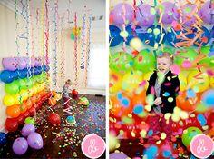 Fondo de globos en Decoracion y detalles para las fiestas de bebés, niños y niñas