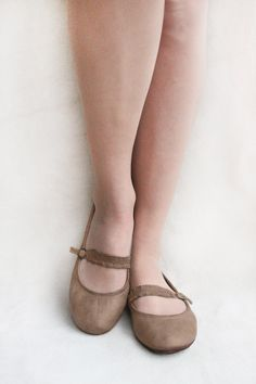 The Drifter Leather handmade shoes — Mary Janes - Chocolate twist - Handmade Leather foldable ballet flats