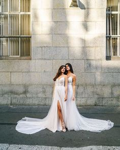 Sunday city walks with these two beautiful women     Dresses: @chanellecindy_bridal @theweddingcollectivepta Images: @mattmassonweddings @themattmasson Models: @taytalmage @lexiformato MUAH: @chanellecindy_bridal