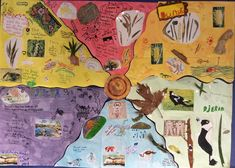 Noongar seasons activity. My year 3's worked in small groups to create one of the six seasons. Students poster then all fitted together as per the amazing Murdoch Noongar seasons poster found at http://www.noongarculture.org.au/food/. The poster size is 3 x 3 A3 paper taped together on one side. The students loved becoming an expert on their season to teach the class. Looks great on the wall. #k3teacherscomp