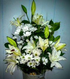 Flores blancas para hacer un ramo de flores blanco