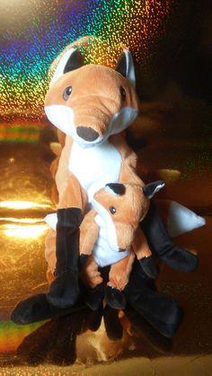 Ikea Soft Red Fox Mama Baby Set Stuffed Plush Attached  #Ikeaplush #redfox #plush