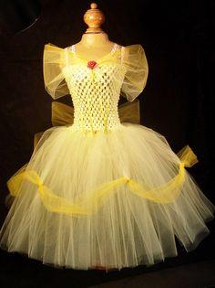 Disney's Belle Inspired Tutu Costume by BoopiesCloset Disney Tutu Costumes, Disney Outfits, Halloween Costumes, Party Costumes, Halloween Fun, Easter Costumes For Kids, Little Girl Dresses, Flower Girl Dresses, Kids Tutu