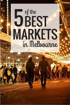 Five of the Best Markets in Melbourne, Australia // www.hummingbirdaway.com