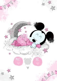 метрика для девлчки, для новорожденных, шаблон Mickey Mouse Images, Mickey Mouse Art, Mickey Mouse Wallpaper, Disney Wallpaper, Baby Animal Drawings, Cute Drawings, Baby Disney Characters, Girl Gift Baskets, Baby Posters