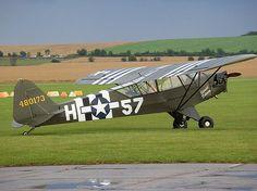 American - Piper L-4 Grasshopper - Liason This was the type of plane my dad flew in Libya in W.W.II...