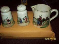 Rare, Baden GZellS, Antique Pottery? Salt * Germany Pepper Shakers, Rare 1920s