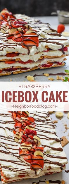 Strawberry Icebox Cake is a creamy, refreshing, no bake dessert that's perfect for summer. It's so easy to make, it'll be your go-to dessert all season long!