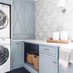 Best Blue Gray Paint Colors These Benjamin Moore Cloudy Sky laundry room cabinets are the perfect example of a blue gray paint colors!These Benjamin Moore Cloudy Sky laundry room cabinets are the perfect example of a blue gray paint colors! Painting Cabinets, Laundry Room Paint Color, Room Design, Laundry Mud Room, Interior, Dream Laundry Room, Room Inspiration, Room Remodeling, House Interior