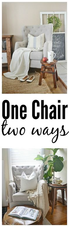 One chair two ways -