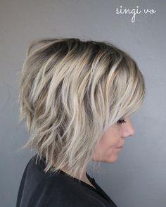 Short Shag Hairstyles, Women Simple Haircut for Short Hair