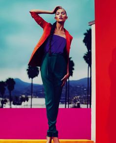 Beautiful fashion color blocking