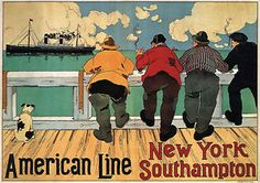 American Line BY Henri Cassiers 1900