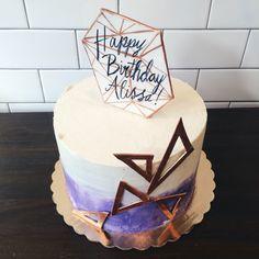 Geometric birthday cake