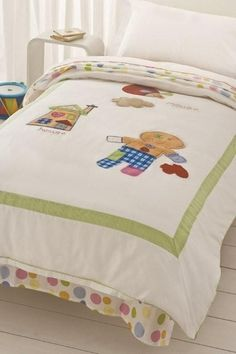Gingerbread man quilt cover set (single), $49.95