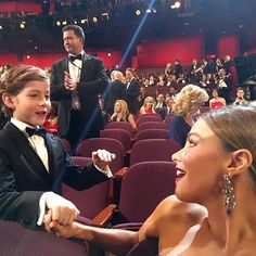 Pin for Later: Here's All the Proof You Need That Latinos Totally Owned This Award Season When Jacob Tremblay Was All of Us Meeting Sofia Vergara Same, Jacob. Same.