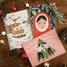 Handpainted Christmas cards by Jade Fisher