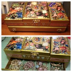 Harry Potter jewelry box. Made by Alison Klepp.