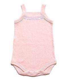 Pink Tank Bodysuit - Infant #zulily #zulilyfinds