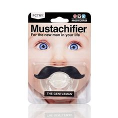 [Micro flaw sale] the United States Hipsterkid (formerly Mustachifier) ​​gentleman beard baby pacifier BPA Free - La Chamade - Baby Gift Sets Natural Toys, Natural Baby, Baby Gift Sets, Baby Gifts, Baby Store, Personalized Products, Orthodontics, Unique Baby