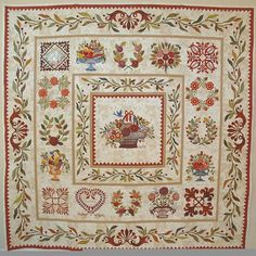 Garden of unity quilt made by Sandra Mollon. She is a very gifted teacher in central California. This quilt is going to the Houston International Quilt Festival, fall of 2014 by invitation.