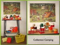 Collection camping vintage